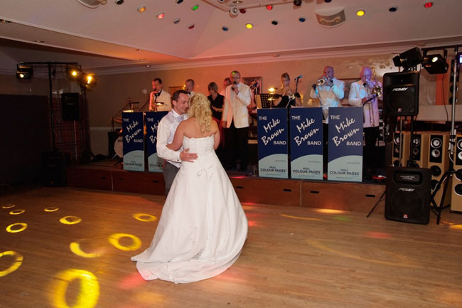 The Mike Brown Band playing a first dance